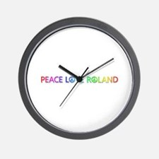 Peace Love Roland Wall Clock