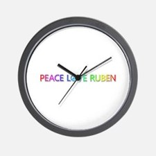 Peace Love Ruben Wall Clock