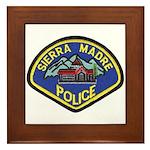 Sierra Madre Police Framed Tile
