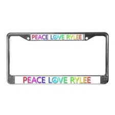 Peace Love Rylee License Plate Frame
