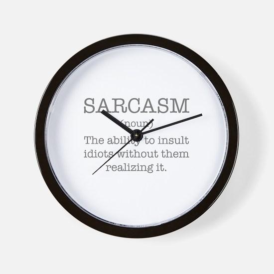 Sarcasm Noun Wall Clock