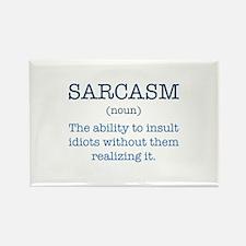 Sarcasm Noun Rectangle Magnet