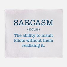 Sarcasm Noun Stadium Blanket