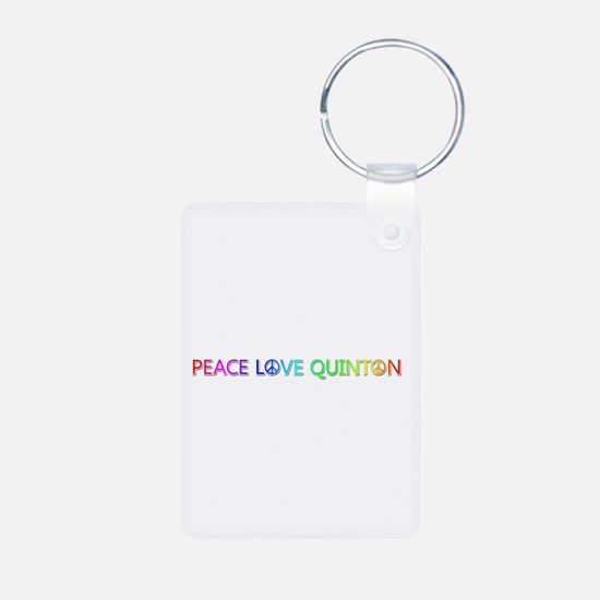 Peace Love Quinton Aluminum Keychain