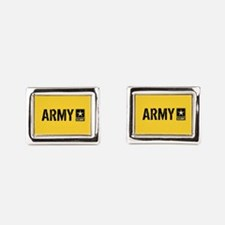 U.S. Army: Army (Gold) Rectangular Cufflinks