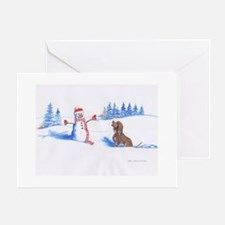 IWS and Snowman #3 Greeting Cards