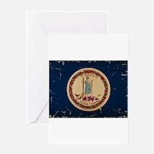 Virginia State Flag VINTAGE Greeting Card