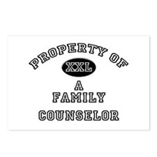 Property of a Family Counselor Postcards (Package