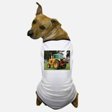 Yellow & green old tractor Dog T-Shirt