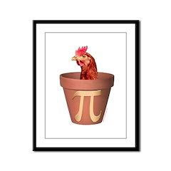 Chicken Pot Pi Framed Panel Print