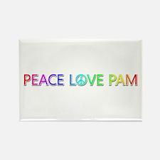 Peace Love Pam Rectangle Magnet