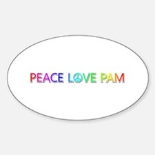Peace Love Pam Oval Decal