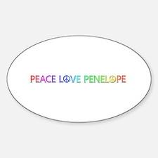 Peace Love Penelope Oval Decal