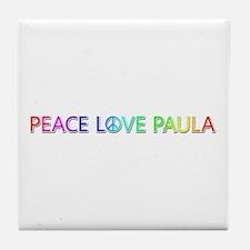 Peace Love Paula Tile Coaster