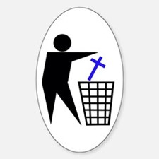 Trash Religion (Christian Version) Oval Decal