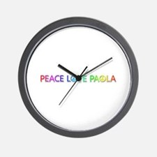 Peace Love Paola Wall Clock