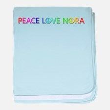 Peace Love Nora baby blanket
