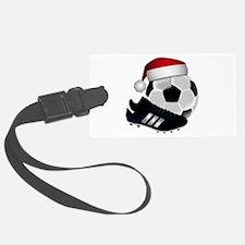 Christmas Soccer Luggage Tag