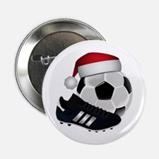 "Christmas Soccer 2.25"" Button"