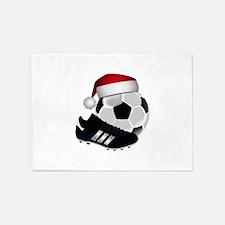 Christmas Soccer 5'x7'Area Rug