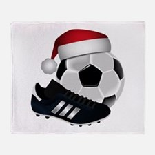 Christmas Soccer Throw Blanket