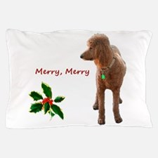 Cool Red poodle Pillow Case