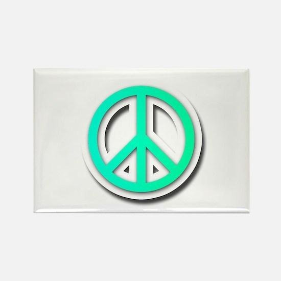 Peace O Rectangle Magnet