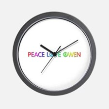Peace Love Owen Wall Clock
