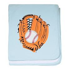 Baseball Game Time baby blanket