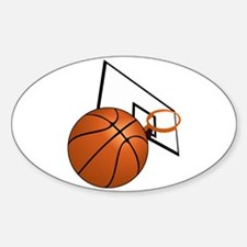 Basketball and Hoop Decal