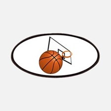 Basketball and Hoop Patch