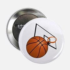 "Basketball and Hoop 2.25"" Button"