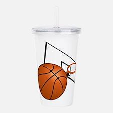 Basketball and Hoop Acrylic Double-wall Tumbler