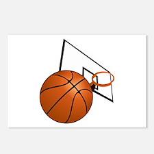 Basketball and Hoop Postcards (Package of 8)