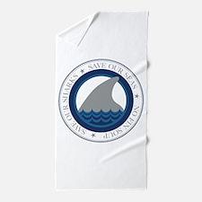 save our sharks Beach Towel