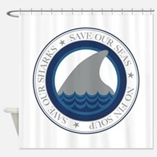 save our sharks Shower Curtain