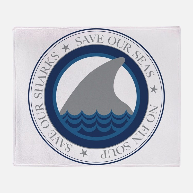 save our sharks Throw Blanket