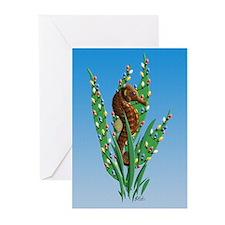 Christmas Seahorse Greeting Cards (Pk of 10) {SG}