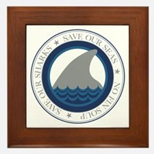 save our sharks Framed Tile