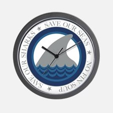 save our sharks Wall Clock