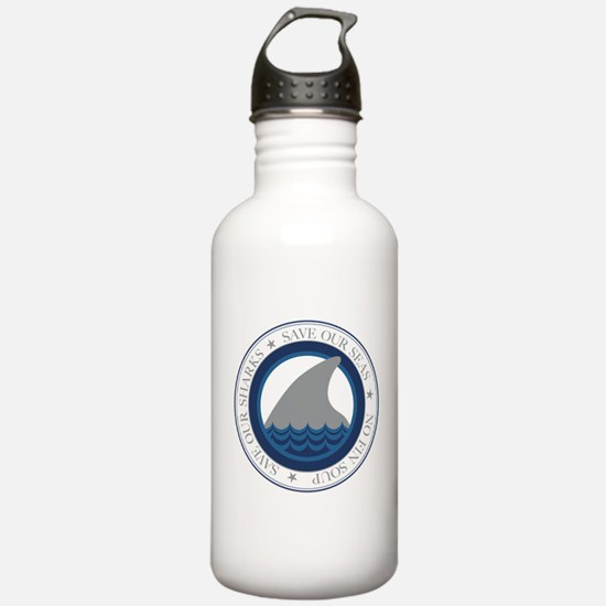 save our sharks Water Bottle