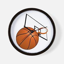 Basketball and Hoop Wall Clock