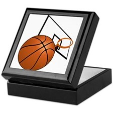 Basketball and Hoop Keepsake Box