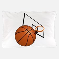 Basketball and Hoop Pillow Case