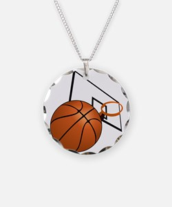 Basketball and Hoop Necklace