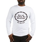 Flounce Motto (Black/Red) Long Sleeve T