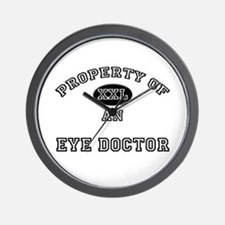 Property of an Eye Doctor Wall Clock