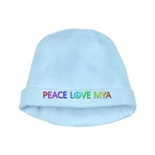 Peace Love Mya baby hat