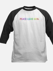 Peace Love Mya Baseball Jersey