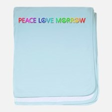 Peace Love Morrow baby blanket